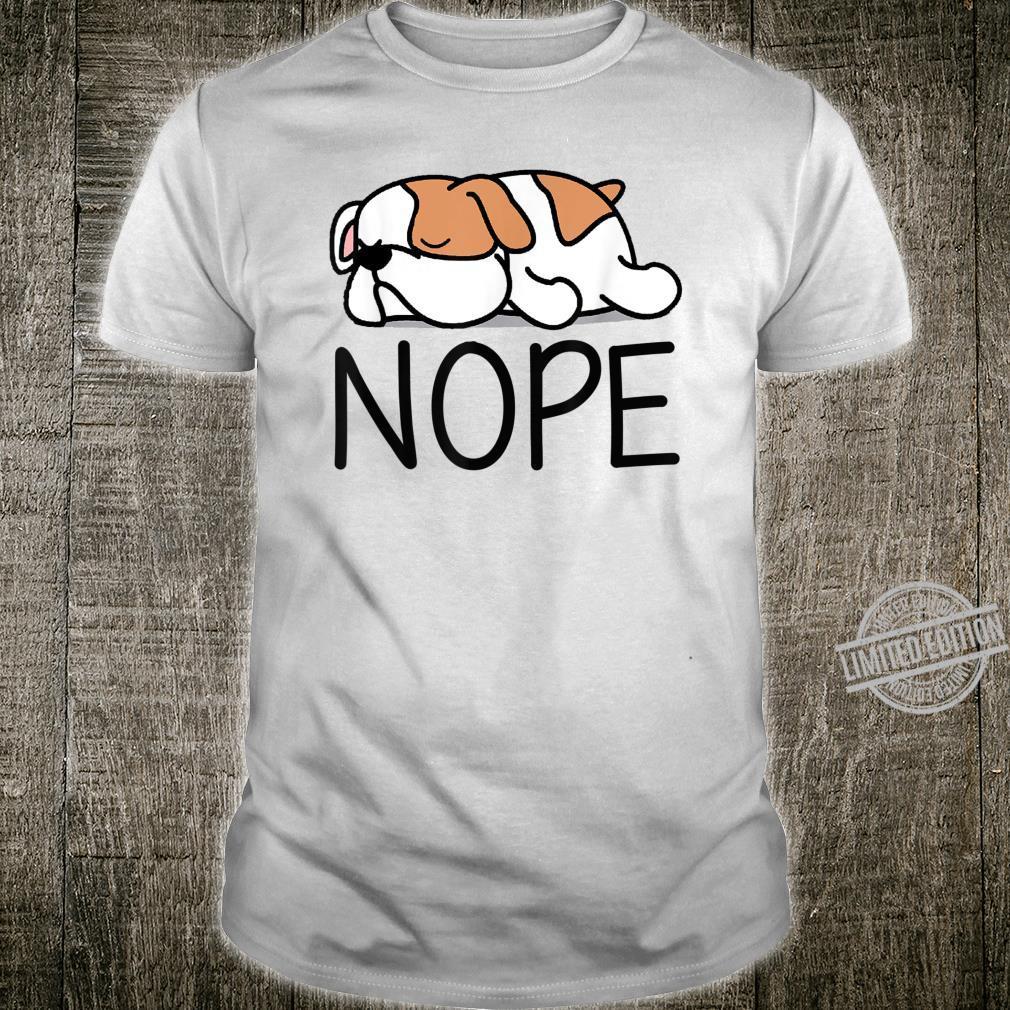 Nope British English Bulldog Mom Dad Youth Shirt