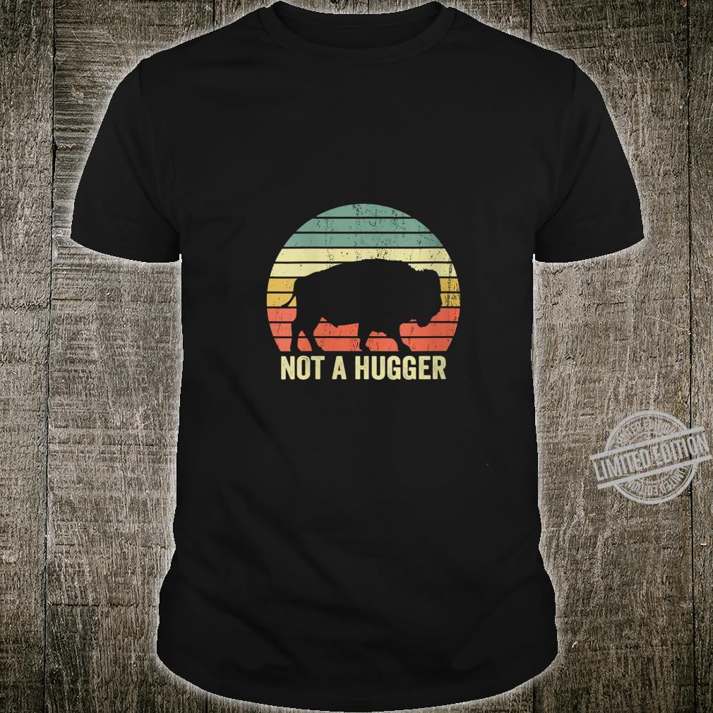 Womens Not A Hugger Buffalo Bison Sarcastic Introvert Shirt