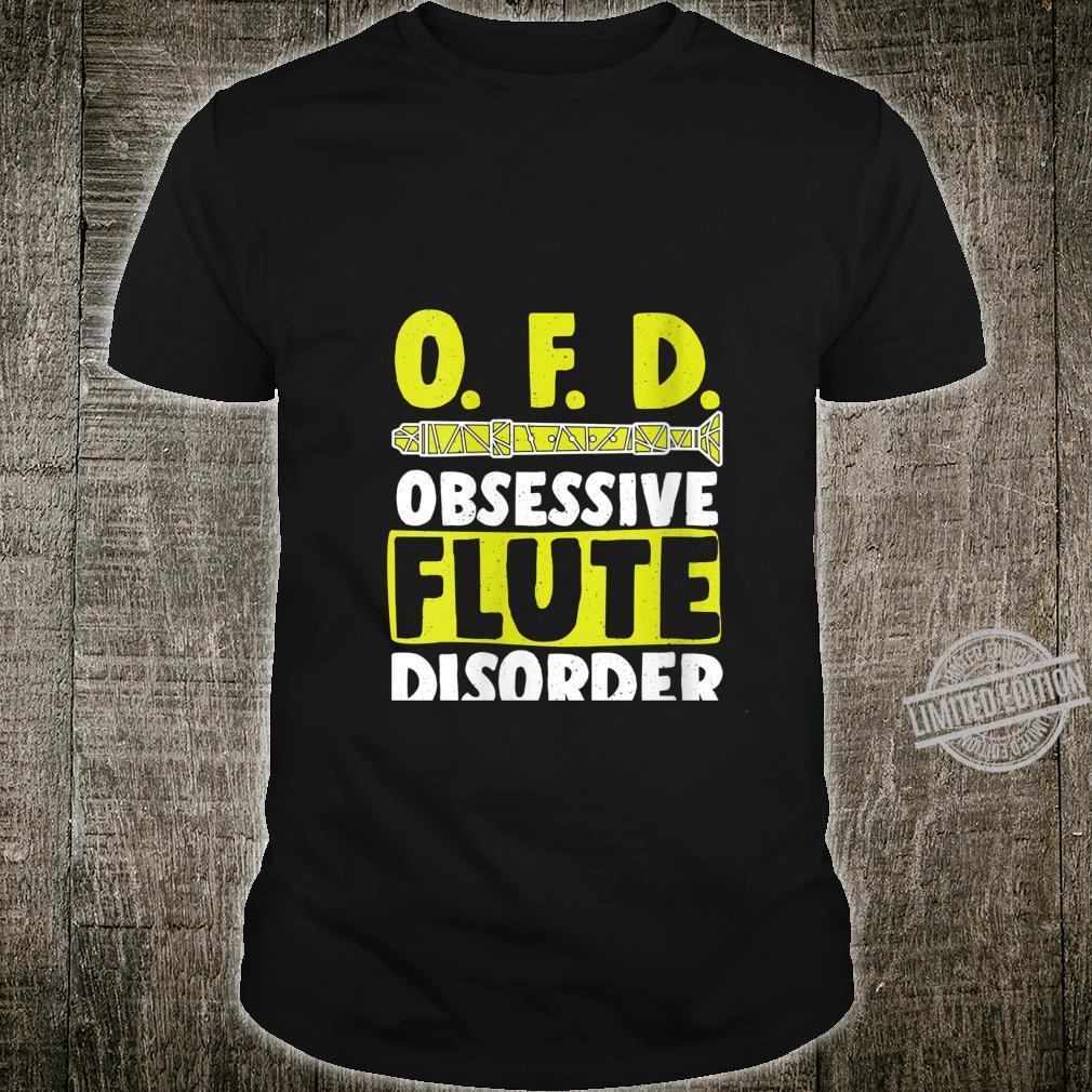 Womens OFD Obsessive Flute Disorder Wind Music Flutess Shirt