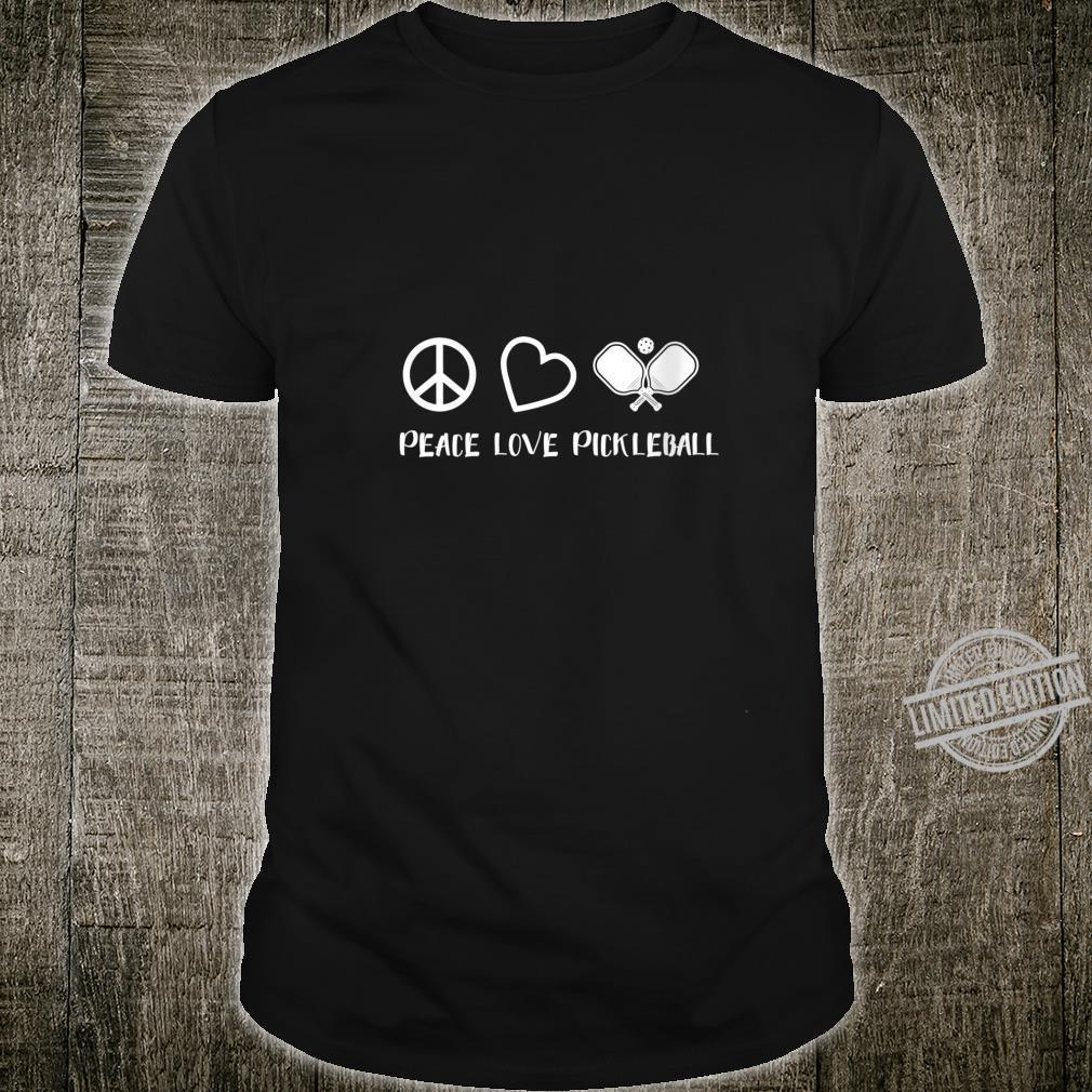 Womens Peace Love Pickleball Pickleball Player Shirt