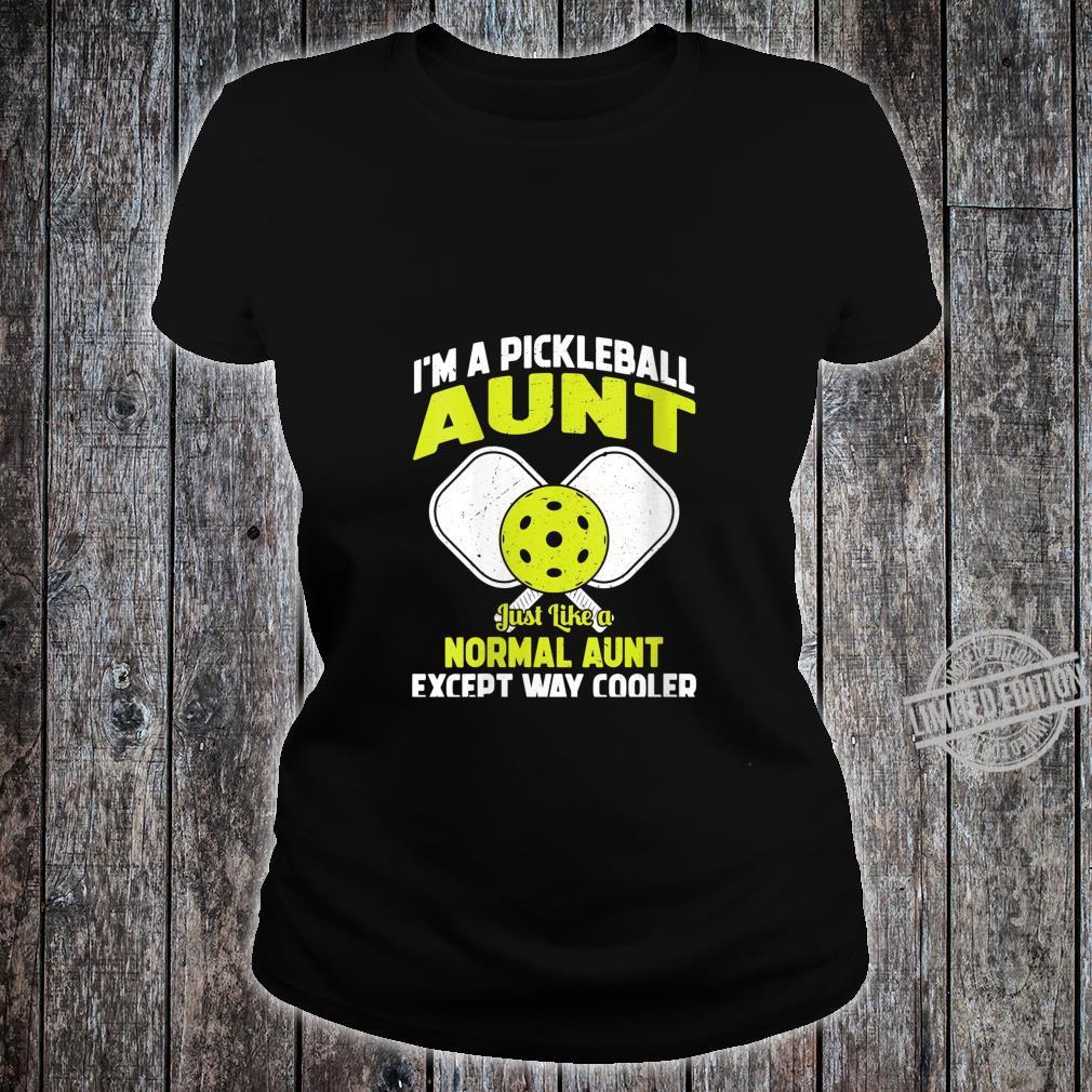 Womens Pickleball Aunt Pickleball Player for Her Shirt ladies tee