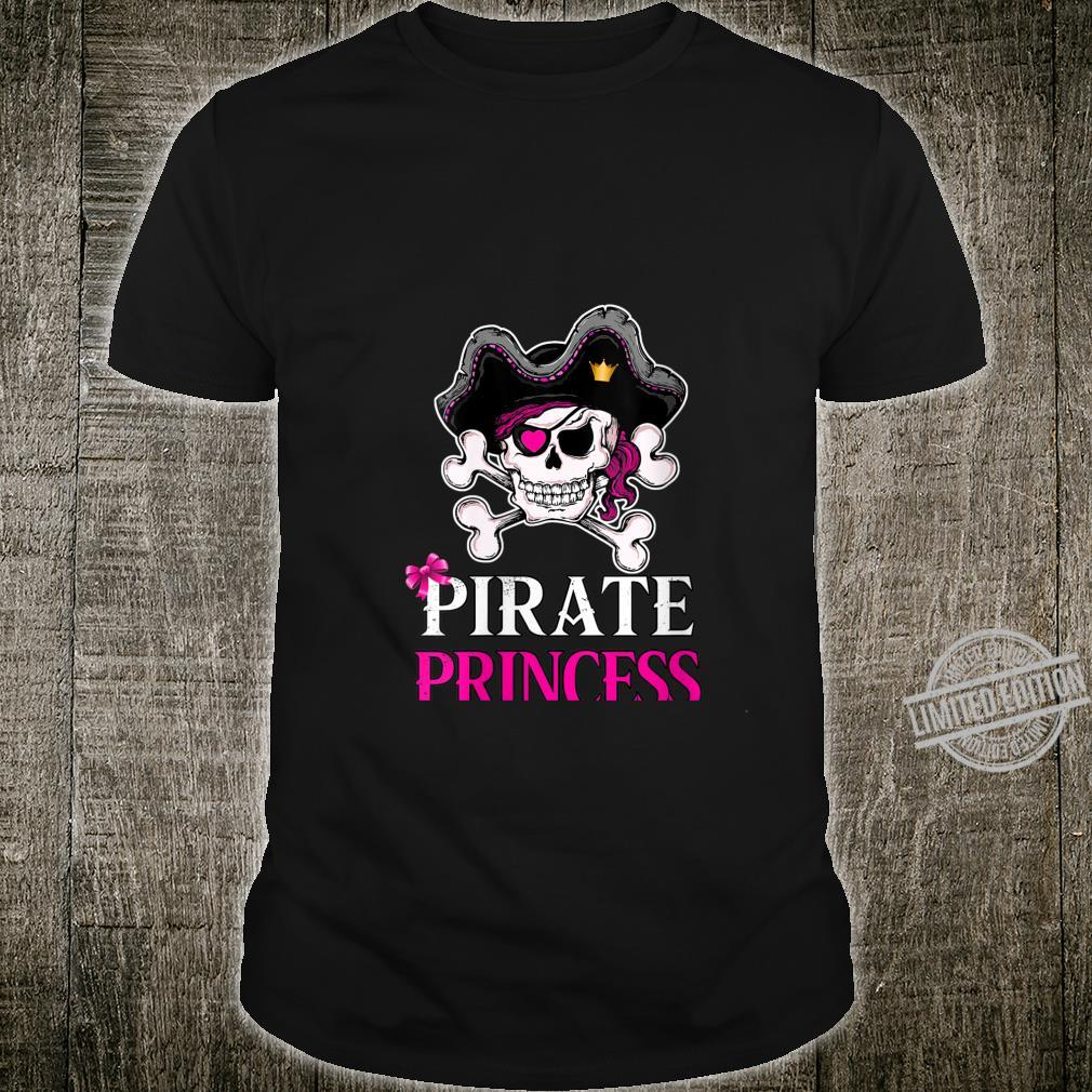 Womens Pirate Princess Crossbones Jolly Roger Flag Shirt