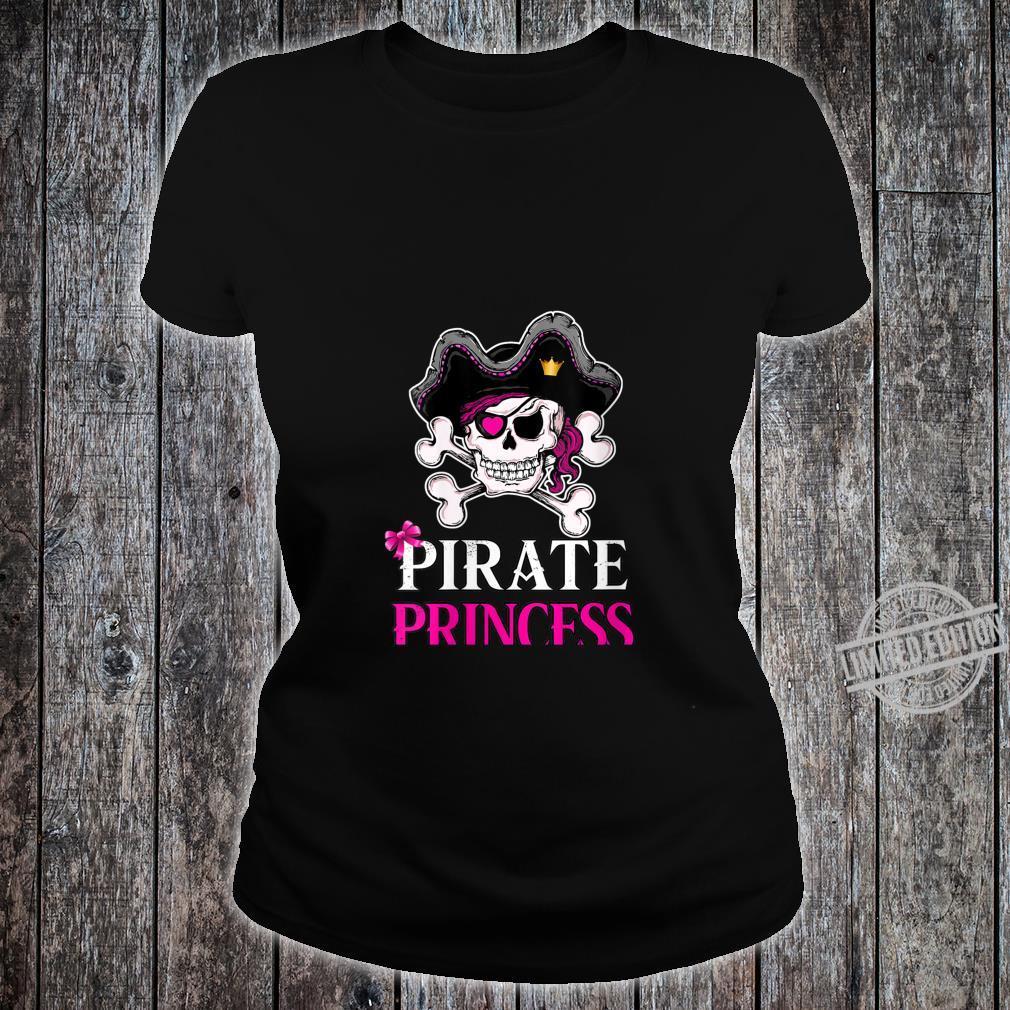 Womens Pirate Princess Crossbones Jolly Roger Flag Shirt ladies tee